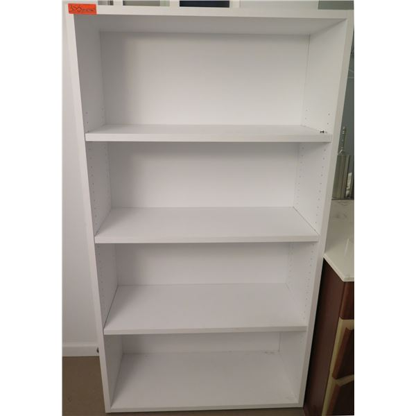 """White 4 Tier Shelf 36""""x15""""x65""""H"""