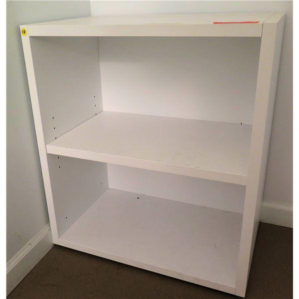 """White 2 Tier Shelf 24""""x15""""x27""""H"""
