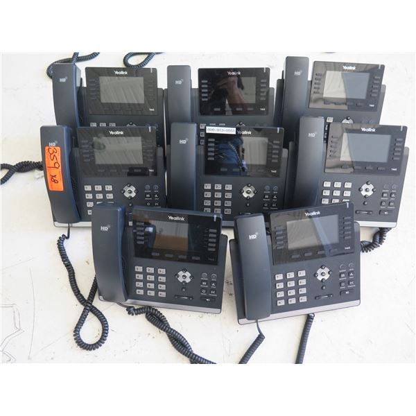 Qty 8 Yealink HD Office Phones w/ Digital Display Model 1465