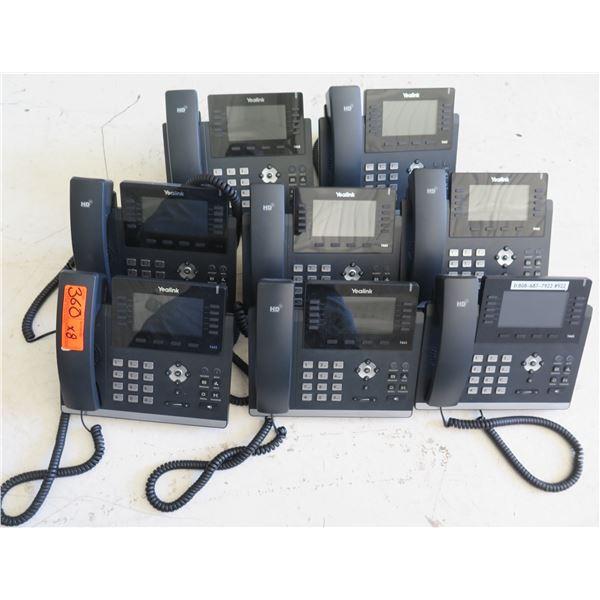 Qty 8 Yealink HD Office Phones w/ Digital Display Model 1466