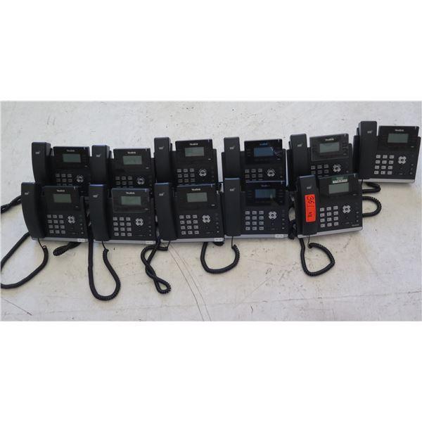 Qty 11 Yealink HD Office Phones w/ Digital Display Model 1467