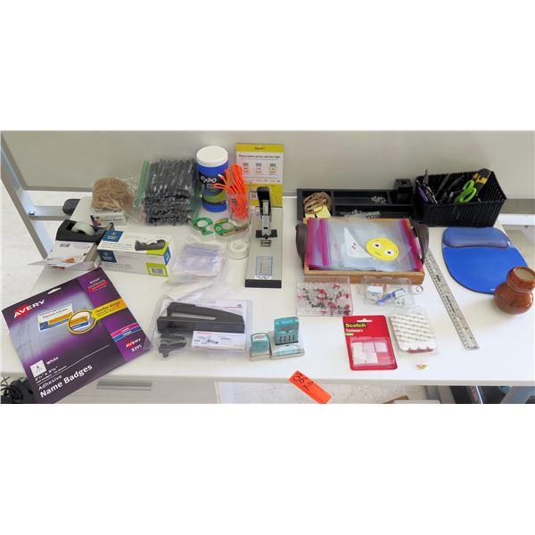 "Misc Supplies:  Name Badges, Stapler, ""HEAL"" Pens, Tape, Wrist Rest Mouse, etc"