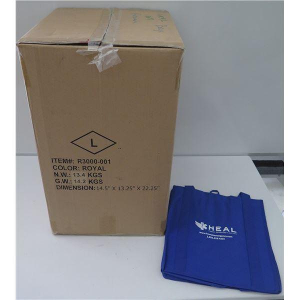 "Box ""HEAL"" Royal Blue Tote Bags 14.5""x13.25""x22.25"""