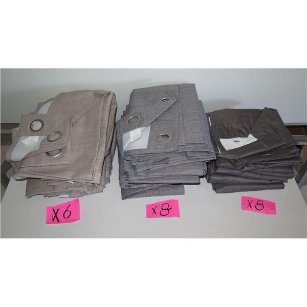 Qty 22 Room Essentials Dark & Light Gray Curtains
