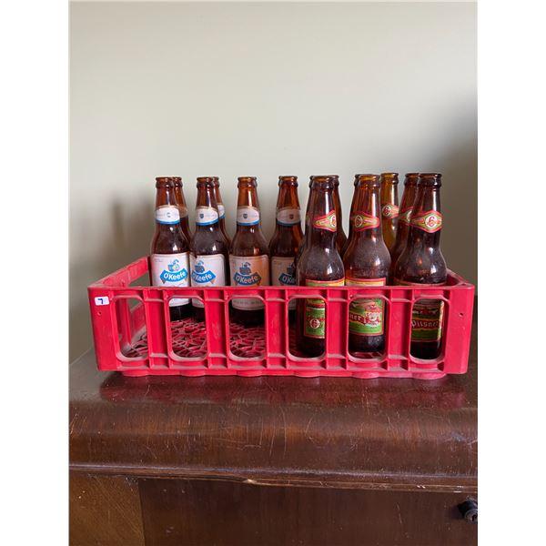 10 old Pilsner bottles & 8 old OV bottles