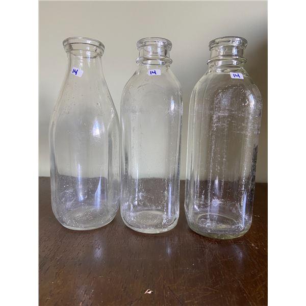 3 milk bottles
