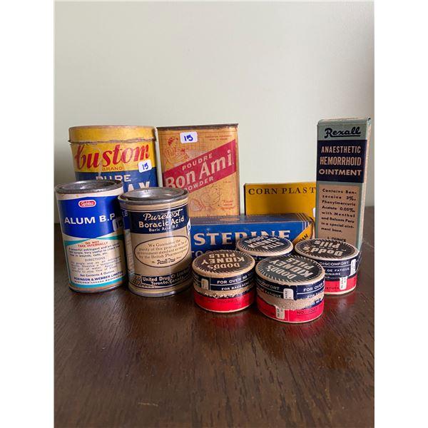 11 vintage medical supplies