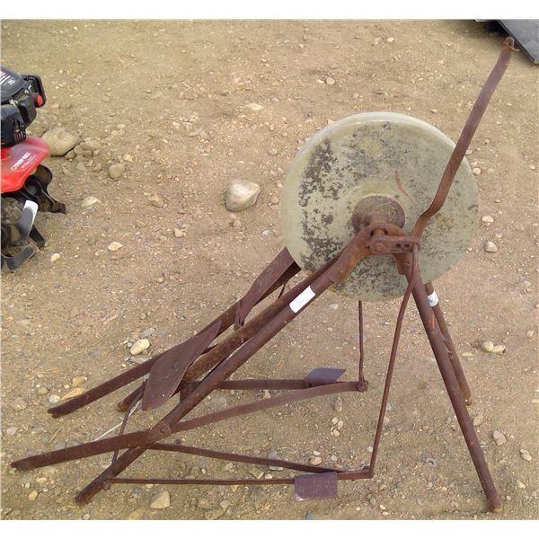 Vintage pedal grinding stone