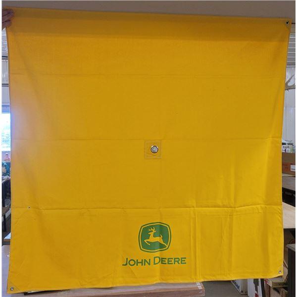 "John Deere yellow umbrella canopy 52"" X 52"""