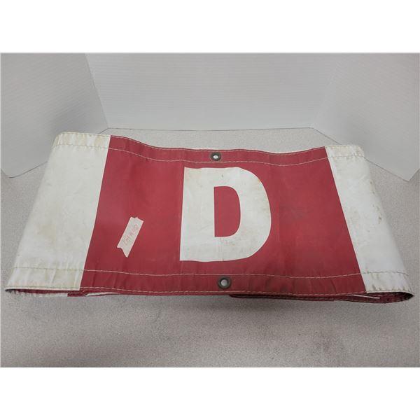 Oversize load sign D sign