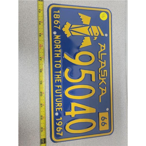 1966 Alaska 95040 license plate