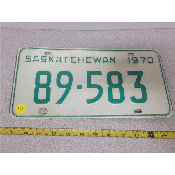 1970 Sask plate 89-583