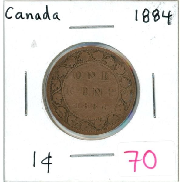 1884 Canada one cent coin
