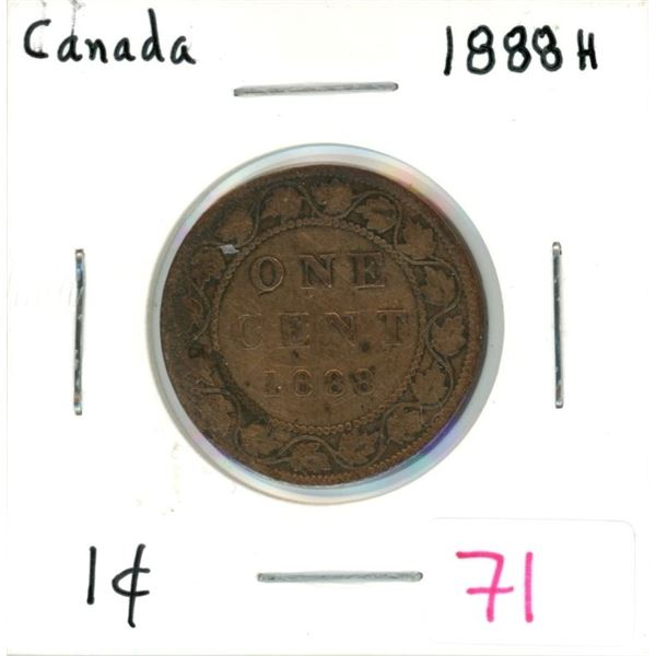 1888H Canada one cent coin