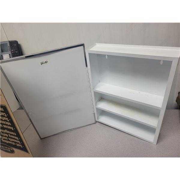 "White metal medicine cabinet 14"" X 20"""