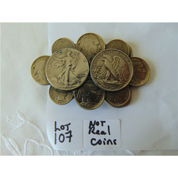 AMERICAN COIN DESIGN BELT BUCLE