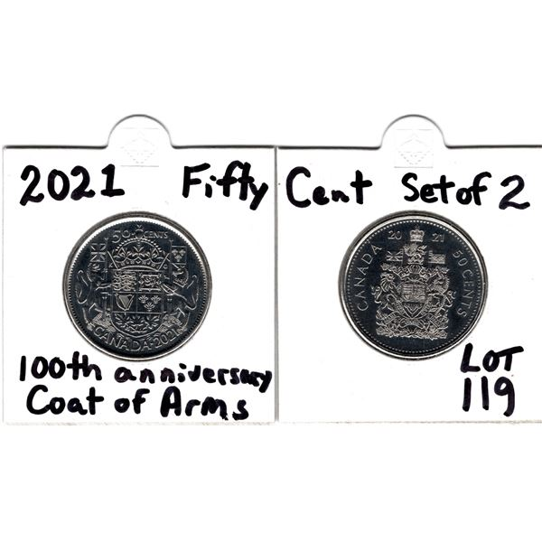 2021 100TH ANNIVERSARY OF COAT OF ARMS 50 CENT SET