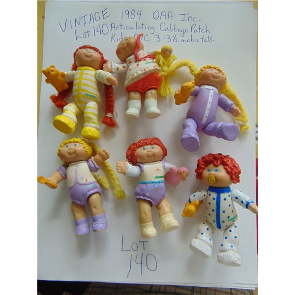 6 VINTAGE ARTICULATING  CABBAGE PATCH PVC TOYS