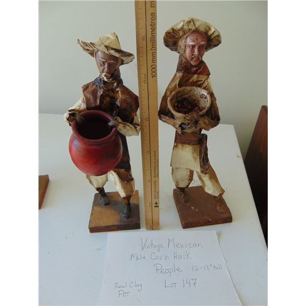 VINTAGE MEXICAN MALE CORN HUSK PEOPLE