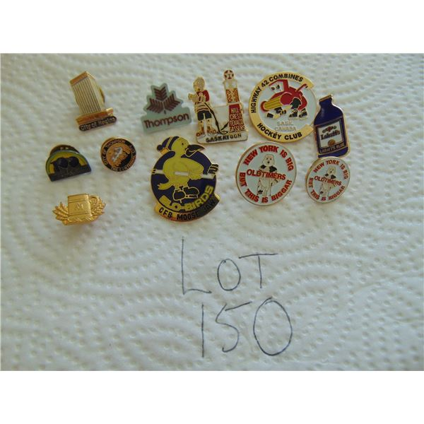LOT OF OLD TIMERS HOCKEY CLUBS & OTHER PINS