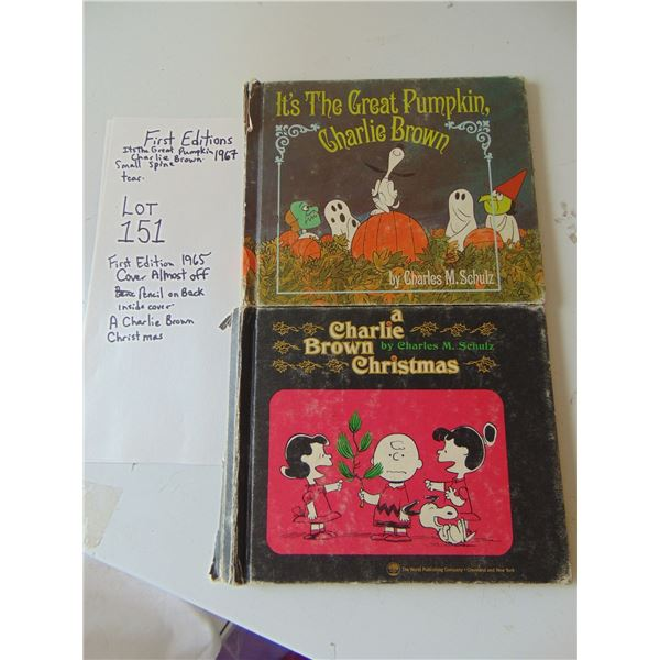 CHARLIE BROWN HARD COVER BOOKS 1ST EDITION LOT OF 2