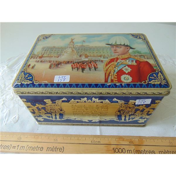 KING EDWARD THE 8TH CORONATION BISCUIT TIN SCARCE
