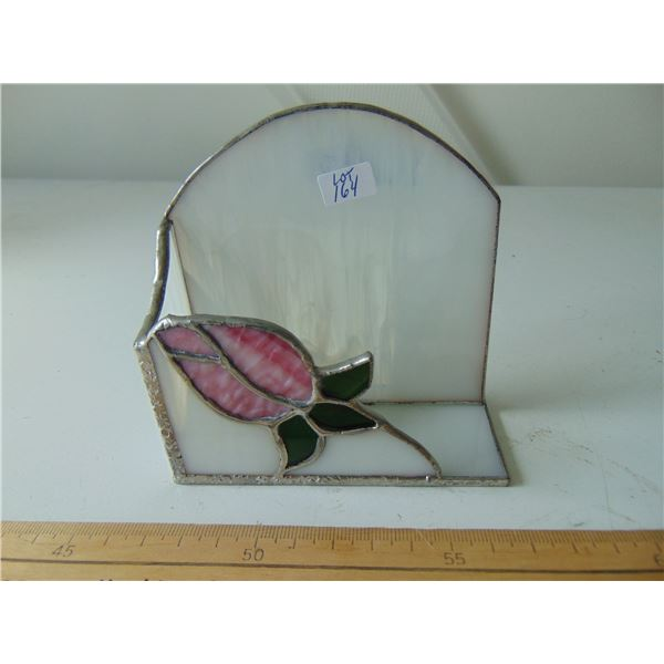 STAIN GLASS BUSINESS CARD HOLDER