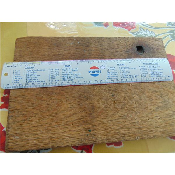 VINTAGE 1970'S PEPSI RULER WITH METRIC & OTHER MEASUREMENT CONVERSIONS