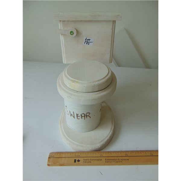 HAND MADE WOODEN SWEAR JAR TOILET