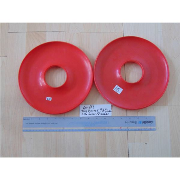 TWO VINTAGE 1970'S LIFE SAVER FRISBEES