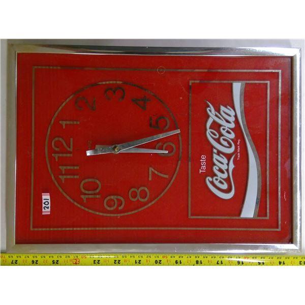 Coca Cola Clock - Glass Front