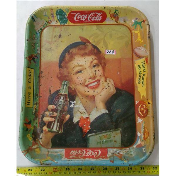 Coca Cola Tin Tray