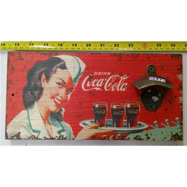 Coca Cola Bottle Opener/Sign