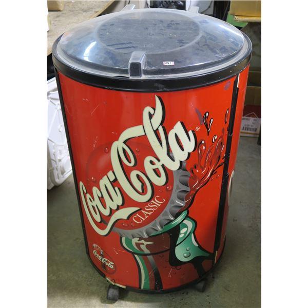 """Coca Cola Wheeled Cooler Fridge 37""""×23"""" Diameter"""