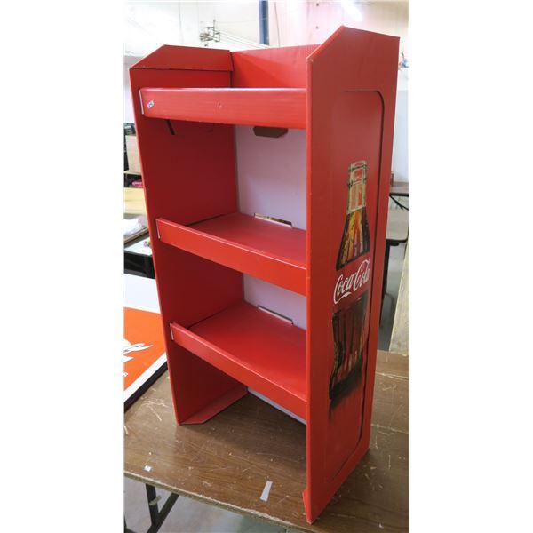 "Coca Cola Cardboard Store Display Rack 40"" High"
