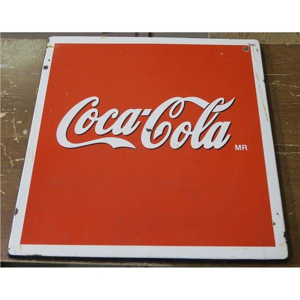 """Metal Coca Cola Sign 29""""×29"""""""