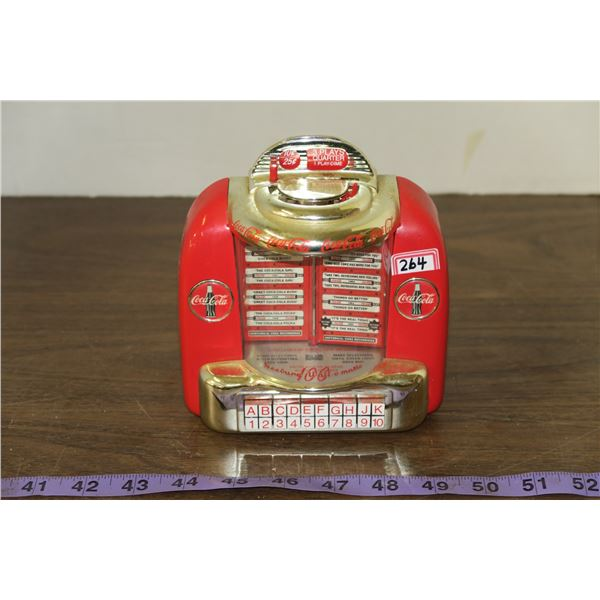 Coca Cola Jukebox Coin Bank Battery Operated