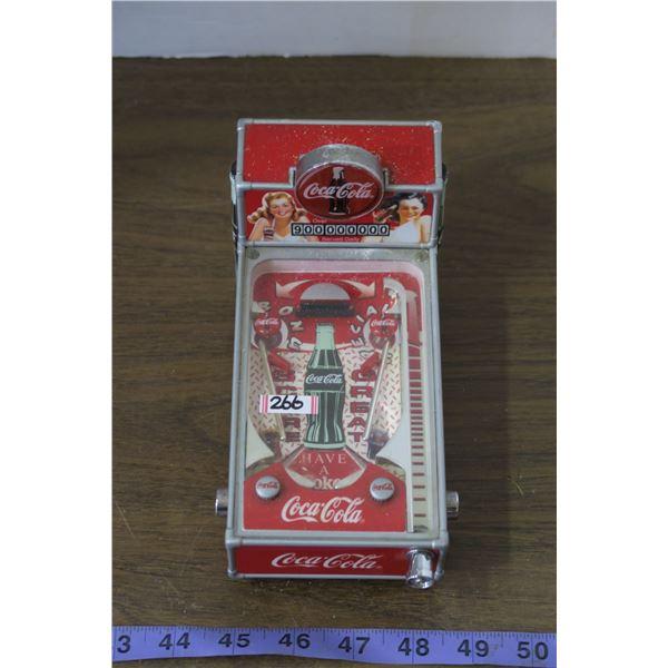 Coca Cola Pinball Coin Bank, Battery Operated