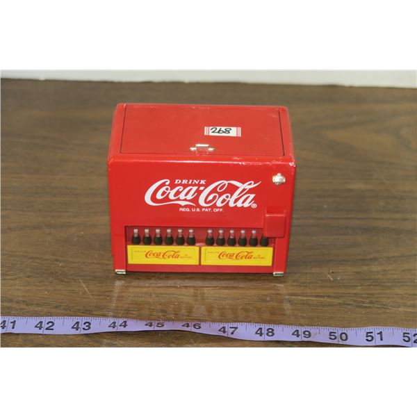 Coca Cola Fridge Coin Bank, battery operated