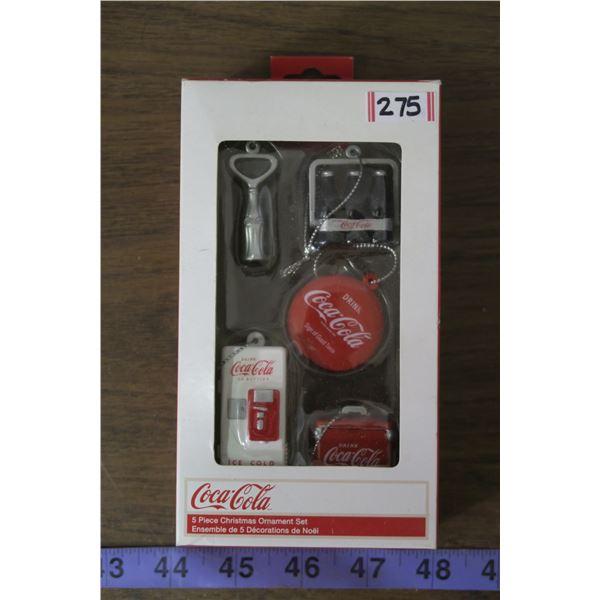 Coca Cola Xmas Ornaments NOS