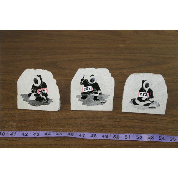 Inuit Themed Decorative Rocks