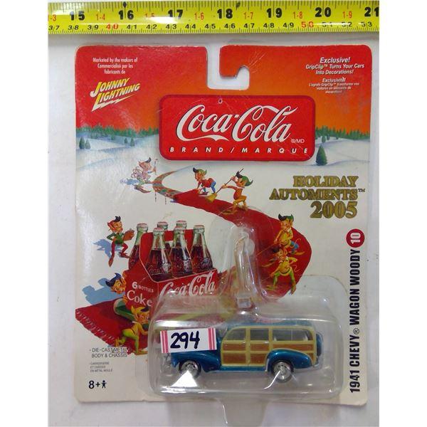 Coca Cola Diecast 1941 Chevy Wagon Woody