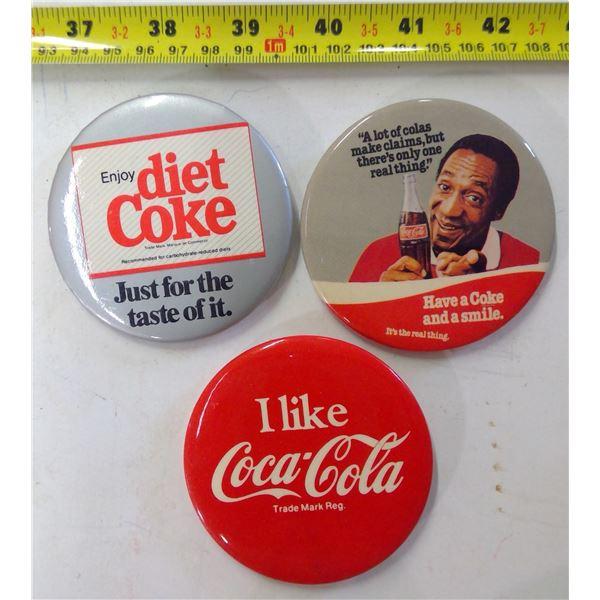Lot of 3 Coca Cola Pins