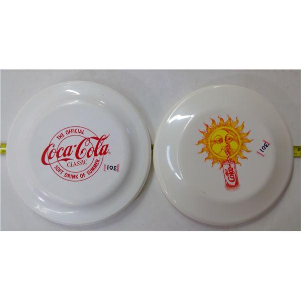 2 - Coca Cola Frisbees