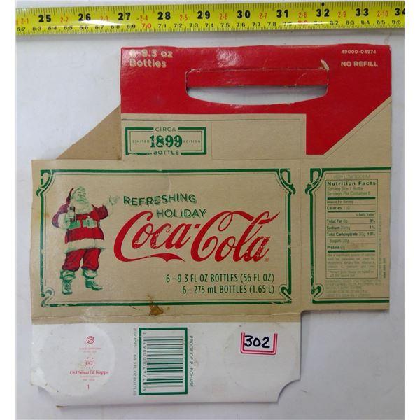 Vintage Coca Cola Cardboard Bottle Caddy