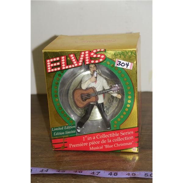 Limited Edition Carlton Cards Elvis 'Blue Christmas' Musical Figure