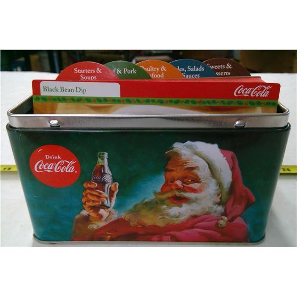 Coca Cola Tin with Recipe Card Collection