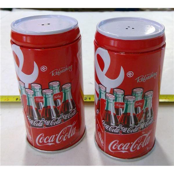 Set of Coca Cola Salt & Pepper Shakers