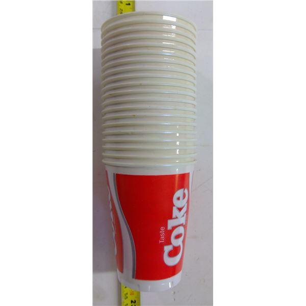 Vintage Coca Cola Plastic Cups