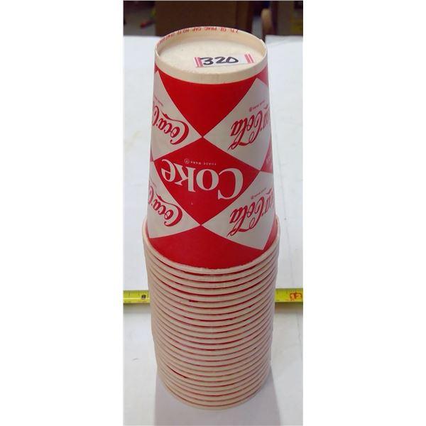 Vintage Coca Cola Wax Paper Cups